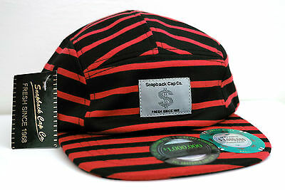 Snapback Mens Baseball Cap Sc023 Red Stripe, Brand New With Tags