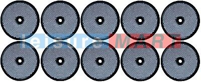 Trailer and truck reflectors round white clear screw on set of 10