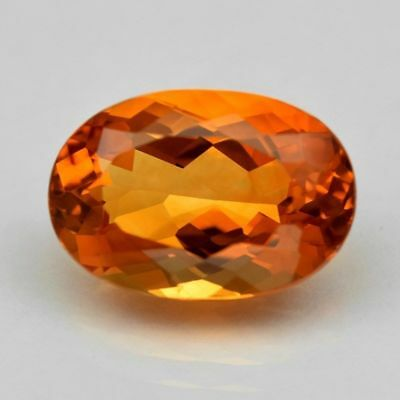 14.5x10.5mm OVAL-FACET NATURAL BRAZILIAN GOLDEN CITRINE GEMSTONE (APP £94)