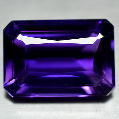 12x10mm OCTAGON-FACET DEEP-PURPLE NATURAL AFRICAN AMETHYST GEMSTONE (APP £182)