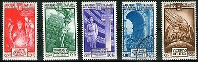 Italy 1935 National Militia set of 5 Mint Hinged and Fine Used