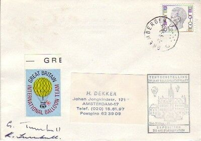 Belguim - 200 Years of Ballooning Exhibition, Signed by G.B. Team (SC) 1976