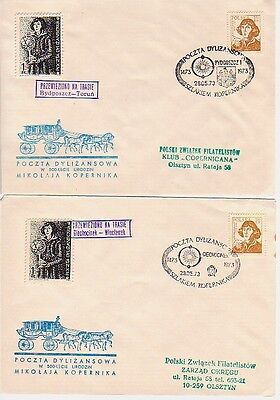 Poland - 500th Anniv. of Copernicus (35 No. SC's Carried on Mail Coach Run) 1973