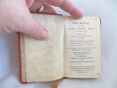 1957 The Ritual Of The Holy Royal Arch Masonic Book (146)