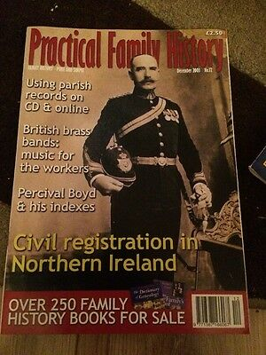 Practical Family History Magazine Dec 2003 Civil Registration In N Ireland