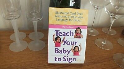 Teach Your Baby To Sign,illustated Card Deck,rrp £9.99,new And Sealed!!