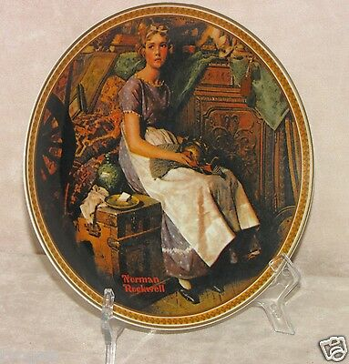 "Vintage  Edward Knowles ""Dreaming in the Attic"" Norman Rockwell Porcelain Plate"