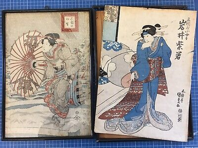 Two Antique Japanese prints