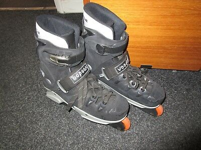 Voodoo Aggressive Inline Skates/RollerBlades Size Large Black/Silver Colours