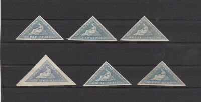 A nice South Africa group of unused Triangular issues