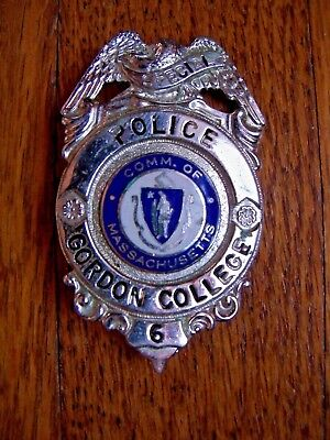 Vintage Gordon College Campus Special Police Badge Comm. of Massachusetts