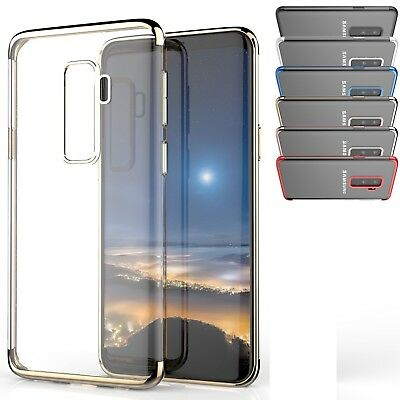 Coque Housse + film de protection Silicone transparent Galaxy s9 / s9 plus  gel