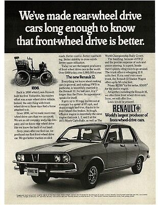 1972 RENAULT 12 4-door Sedan VTG PRINT AD