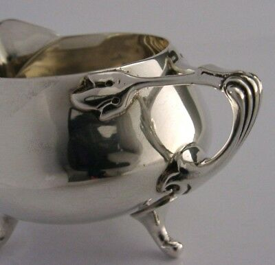 Art Nouveau Solid Sterling Silver Cream Jug English Antique London 1927