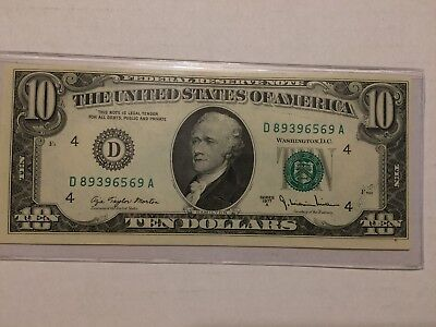 1977 A 10$ Dollar Note