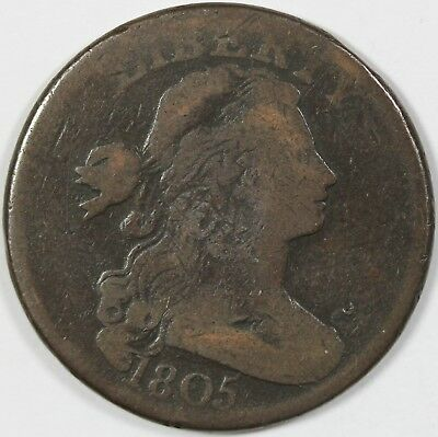 1805 1C Good/VG Details, S-269, Pointed '1', Large Cent