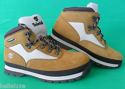 RARE COLOR~New~Timberland EURO HIKER Boot Hiking LEATHER/CORDURA Shoe~Junior sz6