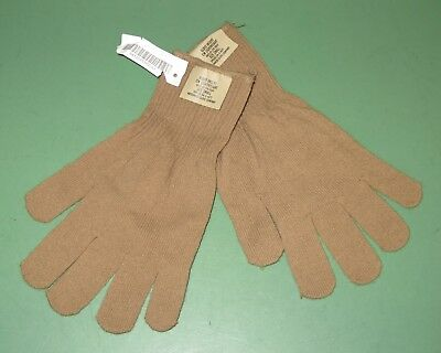 US Military Brown Tan Cold Weather Lightweight Glove Inserts Liners All Sizes