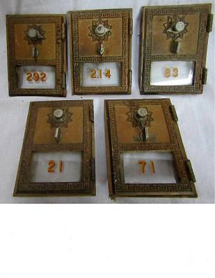 ( 5 ) Old National 1957 Post Office Box Doors