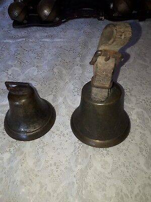 2 antique sleigh bells