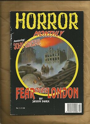 HORROR MONTHLY 1 1991 VG Rare British Pulp Horror Magazine ALL PUBLISHING