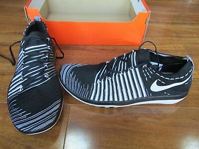 209d31a8beb6 NEW NIKE FREE TRANSFORM FLYKNIT TRAINING SHOES WOMENS 12 Black White  833410-010
