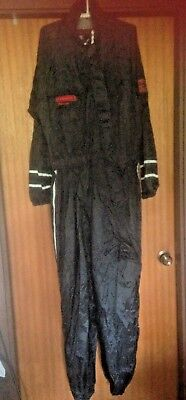 Dri-rider motorcycle wet weather suit size large -used condition -BLACK