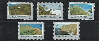 Pitcairn Islands set of 5 Views of the Island Mint Unhinged Stamps