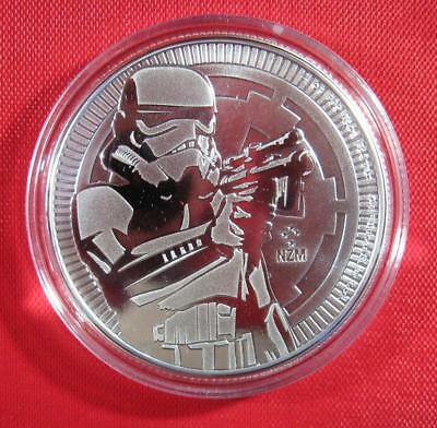 2018 1 oz Niue Silver $2 Star Wars Storm Trooper BU Sealed Only 250,000 Mintage!