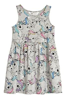 "UNICORNS.....Girls H&M Dress..... ""NWT""  (Sz 18 months)"