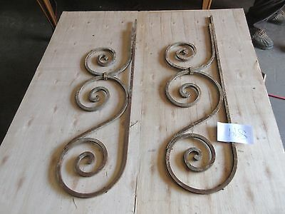 Antique Victorian Iron Gate Window Garden Fence Architectural Salvage #894