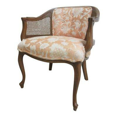 Henredon French Regency Cane Barrel Back Lounge Living Room Chair B