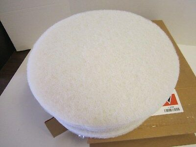 "Lot of 5 Tough Guy 13"" White Recycled Plastic Polyester Polishing Pad New"