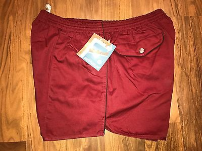 NEW Vtg 70s 80s Windcrest Stripe Mens LARGE Tennis Track swim trunk shorts 38 40