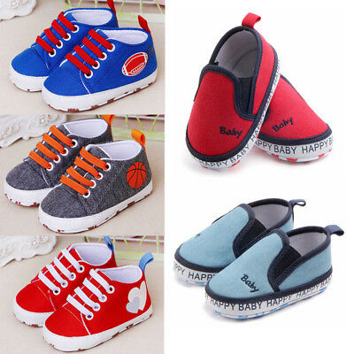 Newborn Baby Soft Sole Crib Shoes Infant Boy Girl Toddler Sneaker Antislip Shoes