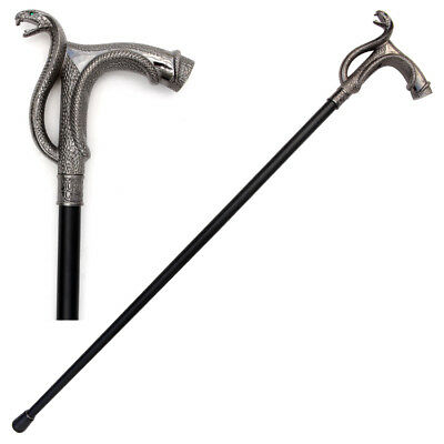 Cobra Head Screw Top Cane Walking Stick