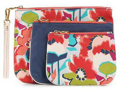 Fossil Cosmetics Bag Makeup Pouch Floral Bags Zip Organizer SWL1327919 NWT New