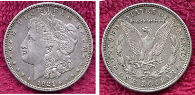 1821D  Morgan Silver Dollar from the U.S.A.