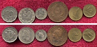 6 Coins from Argentina