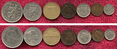 7 Coins from the Netherlands All different.