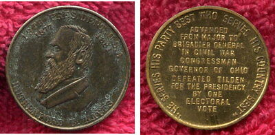 Rutherford B. Hayes U.S.A. President Medallion