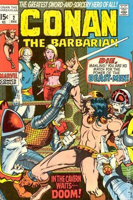 Conan the Barbarian (Marvel) #2 1970 VG+ 4.5