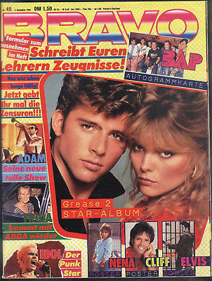 BRAVO Nr.45 vom 4.11.1982 Cliff Richard, Falco, Billy Idol, Nena, Mike Oldfield