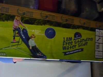 Brand new 1.8 metre free standing water slide with hose connection new in box