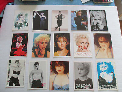 CINEMA MOVIE LOT 15 DIFFERENT CPSM CP postcard 1980 MADONNA PIN UP ARTISTE B/TB