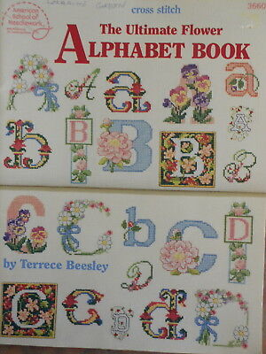 THE ULTIMATE FLOWER ALPHABET BOOK OF CROSS STITCH- 45+ pages  PATTERN BOOK