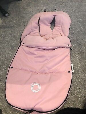 bugaboo pink foot muff and hood