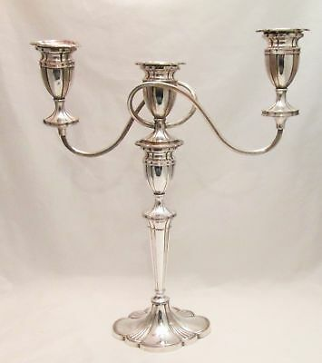 A Very Large Old Sheffield Plate Candelabra c1820 Fluted Oval Base