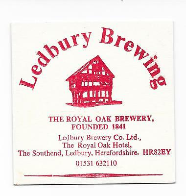 UK Beermat LEDBURY BREWING Cat 15 1997 Herefordshire Beer Festival Special issue