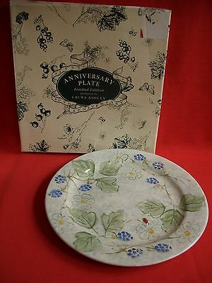 1993 LAURA ASHLEY ENGLAND 40TH ANNIVERSARY HAND PAINTED  PLATE limited edition
